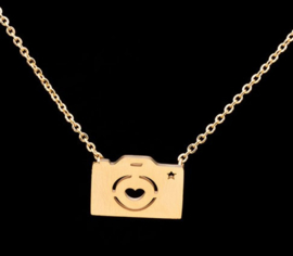 "Camera Ketting ""Photographer"" Stainless Steel"