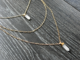 """Layering Ketting """"Two Stones"""""""