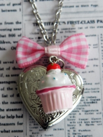 "Medaillon Ketting ""Cupcake Love"""