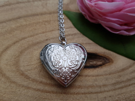 "Medaillon Ketting ""Plain Silver Heart"""