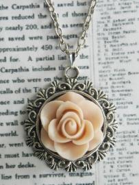 "Ketting ""Vintage Pink Rose"""