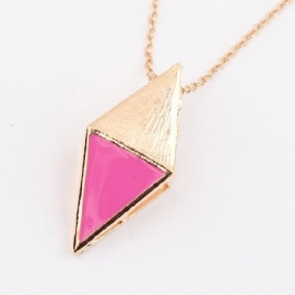 "Ketting ""3d Triangle"" Pink"