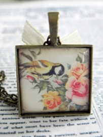 """The Square Bird Collection """"Kiss A Flower"""""""