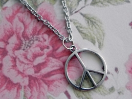 "Ketting ""Small Peace"" met klein peace teken"