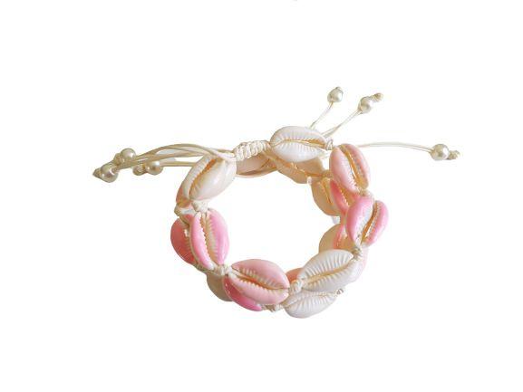 "Schelpen Armband ""Pink Seashells"""