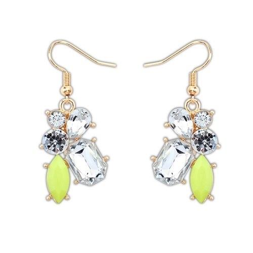 """Oorbellen """"Elegant Yellow Jewel"""""""