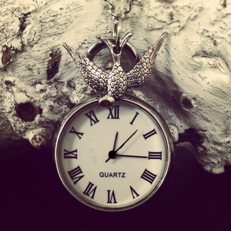 "Ketting ""Bird Watching"" met zakhorloge"