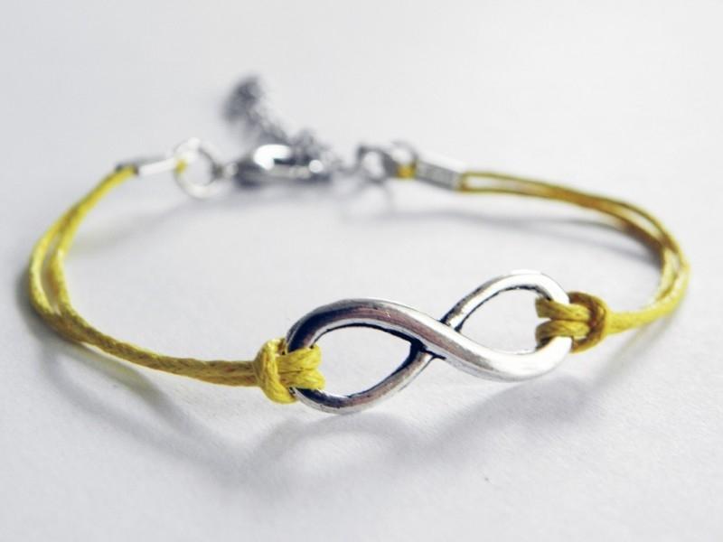Infinity Armband - Geel