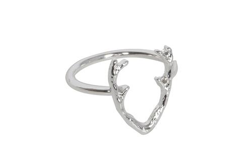 "Ring ""Antler"" in Zilver- of Goudkleur"