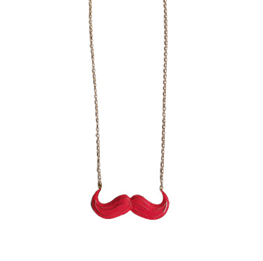 "Snor Ketting ""Large Pink Mustache"""