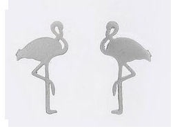 """Oorbellen """"Flamingo"""" Goud of zilver plated"""