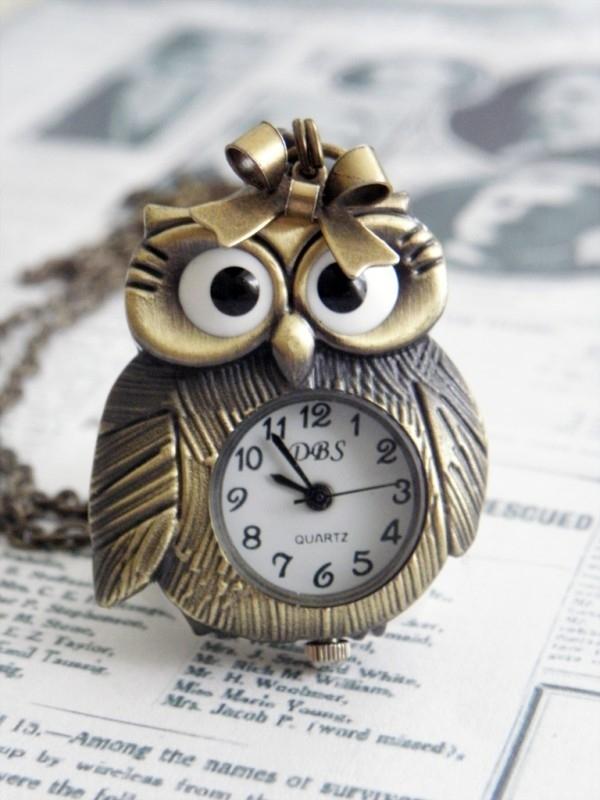 "Uil Ketting ""Mrs. Featherly Owl"" met klokje"