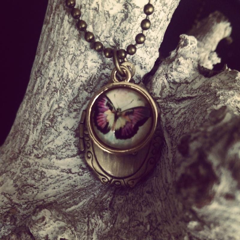"""Medaillon Ketting """"Small Butterfly Locket"""""""
