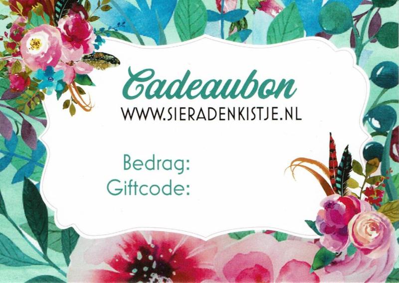 Cadeaubon Sieradenkistje.nl - 15,00 euro