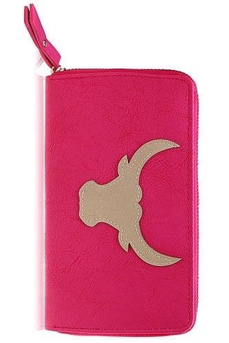 "Portemonnee ""Buffalo Skull"" Pink"