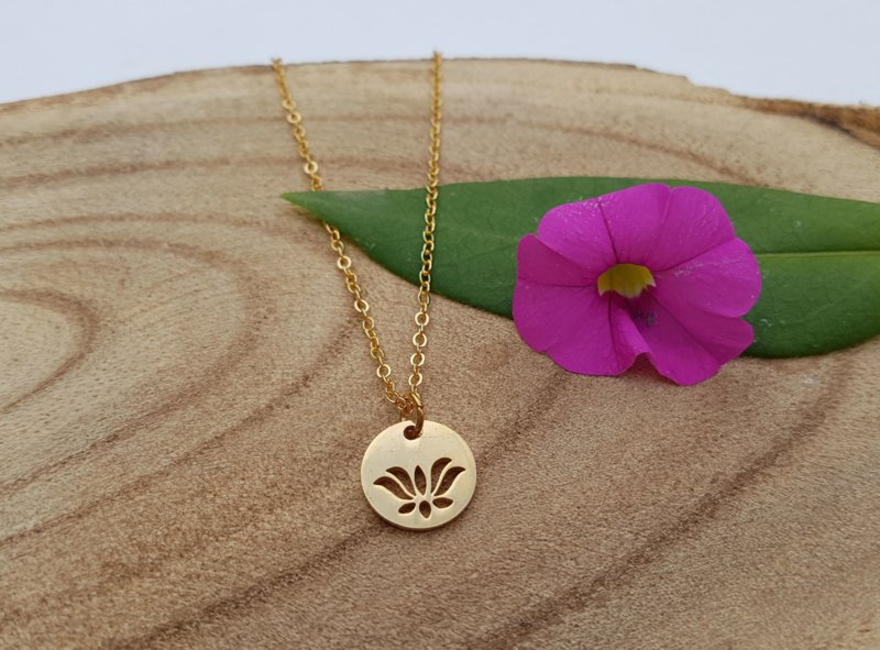 """Lotus Ketting """"Lotus Coin"""""""