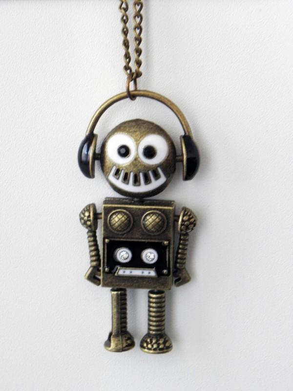 "Ketting ""Musical Robot"" Bronskleurig"