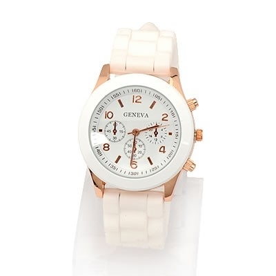 """Horloge """"Watch My Candy Colors"""" Wit"""