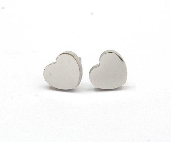"""Hartjes oorbellen """"I Heart You"""" Stainless Steel"""
