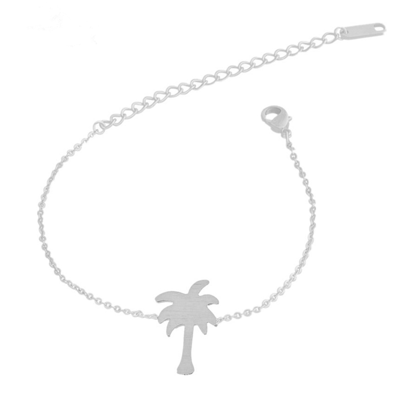 """Palmboom Armband """"Tropical Summer"""" Zilver"""