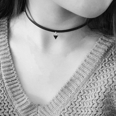 "Choker Ketting ""Black Triangle"""