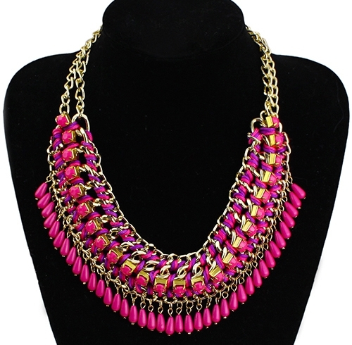 "Statement Ketting ""Pink & Purple Ibiza Vibes"""