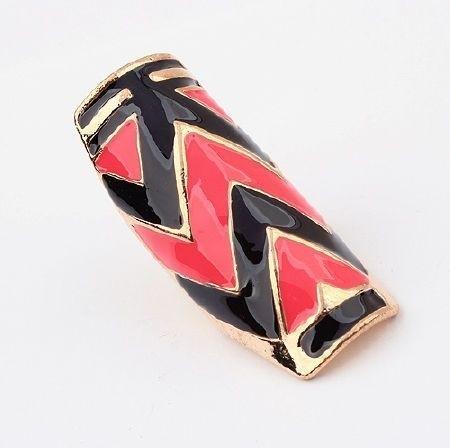 """Ring """"Tribal Colours"""" Roze - Zwart"""