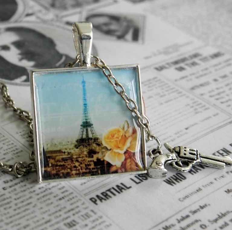 """Eiffeltoren Ketting """"Murder in Paris"""""""