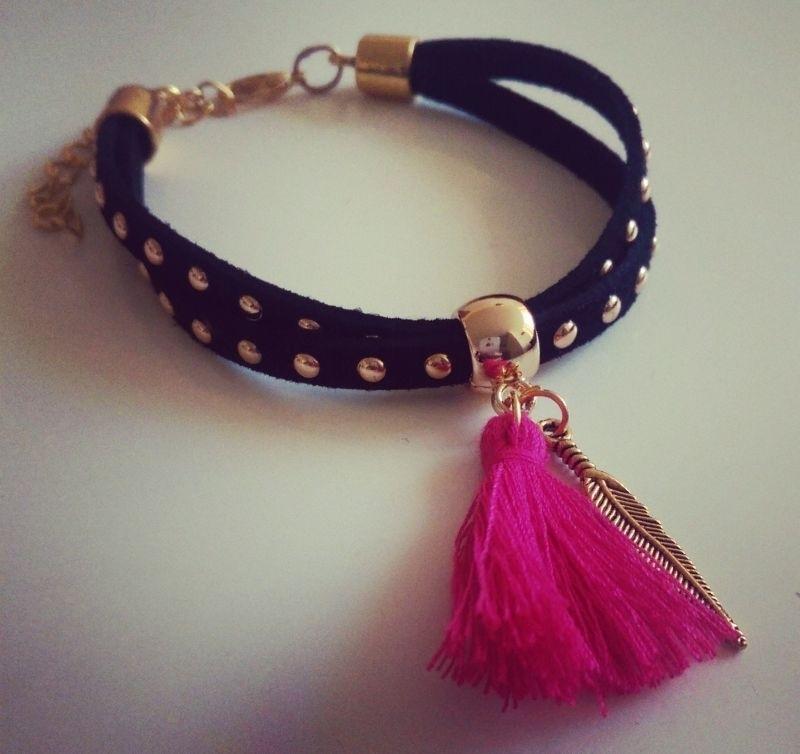 "Ibiza Armband ""Black Studs"""
