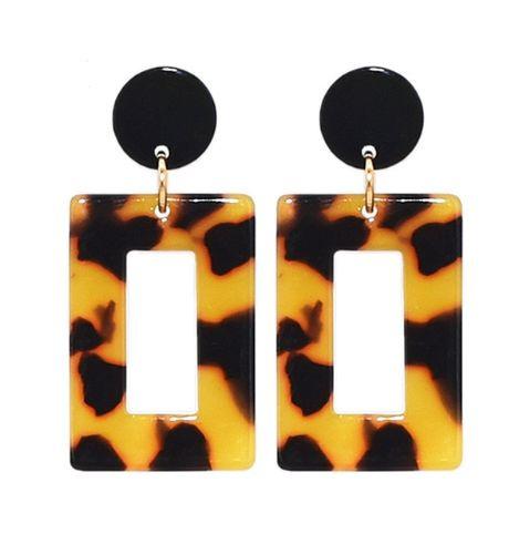 """Luipaard Oorbellen """"leopard Rectangle"""""""