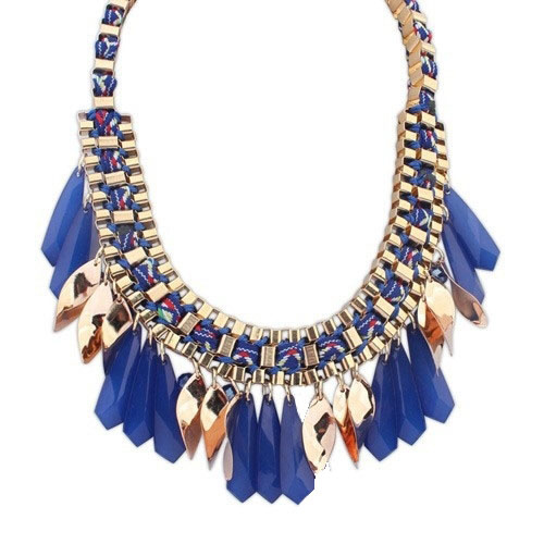 """Statement Ketting """"The Sky Is The Limit"""" Donkerblauw"""