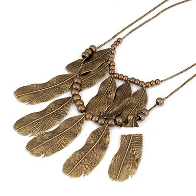 """Ketting """"Multi Feather"""""""