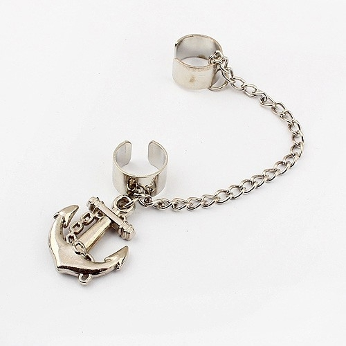 "Ear Cuff  ""Anchor"""