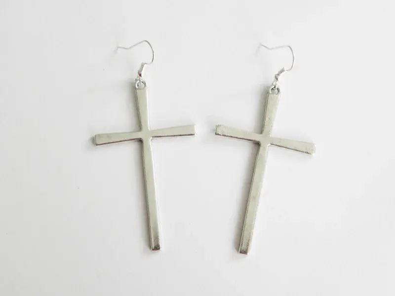 """Kruis Oorbellen """"Large Cross"""""""