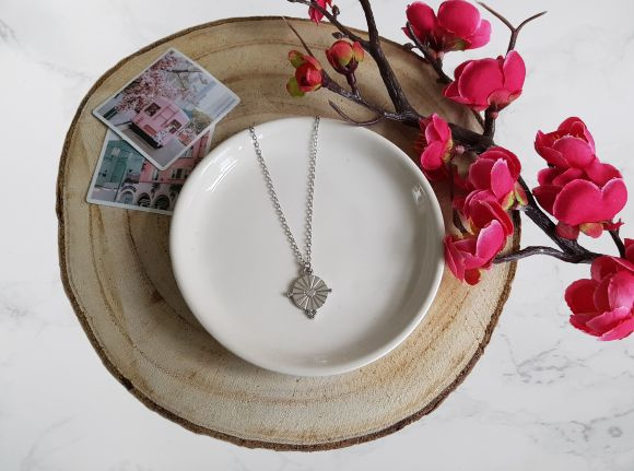 "Munt Ketting ""Heart Coin"" Zilver"