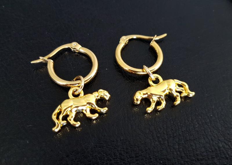 """Oorringen """"Gold Panther"""""""