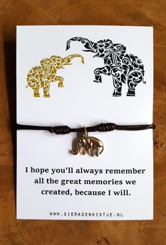 "Wish Armband ""Brown Elephant"""