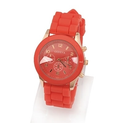 """Horloge """"Watch My Candy Colors"""" Rood"""