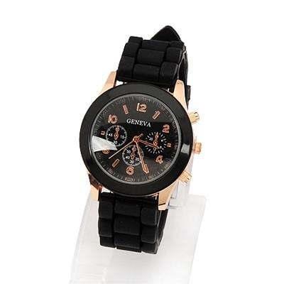 """Horloge""""Watch My Candy Colors"""" Zwart"""