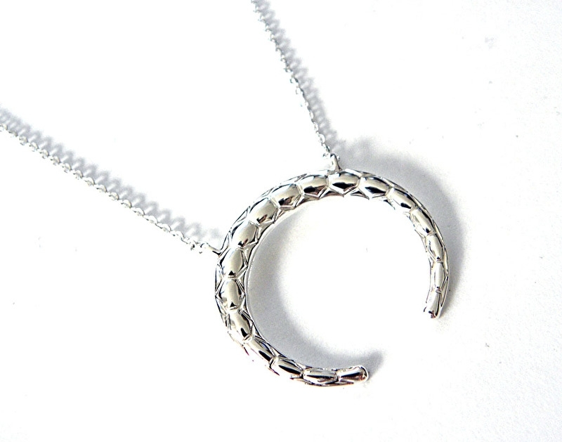 """Ketting """"Tribal Ox Horn"""" Silver Plated"""