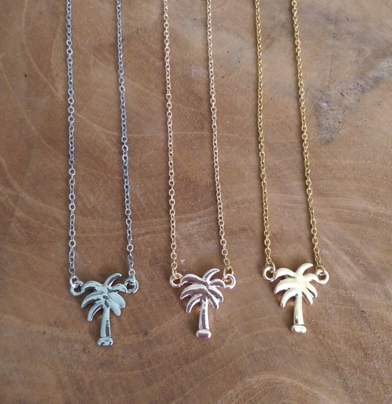 "Palmboom Ketting ""Cute Little Palm Tree"