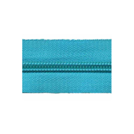 Zipper of the roll - Aqua - per meter
