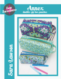 Sew Sweetness - Annex - double zip box pouches - Patroon