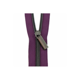 Purple Tape - Gunmetal - zipper - Sallie Tomato