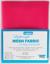 Mesh Fabric - Lipstick - By Annie