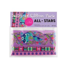 All Stars  - Foxglove - Ribbon pack - 3 yards