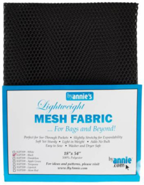 Mesh Fabric - Black - By Annie