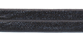 Fold-Over Elastic - 20 mm - Antraciet