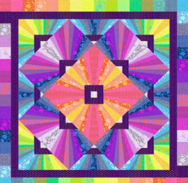 Solar Flare Quilt Kit - True colors /Tula Pink - Stacey Day - juli 2021
