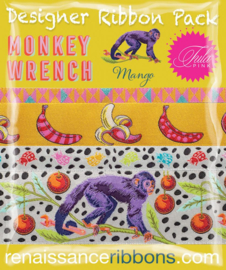 Monkey Wrench - Mango - Ribbon Pack - 4 yards